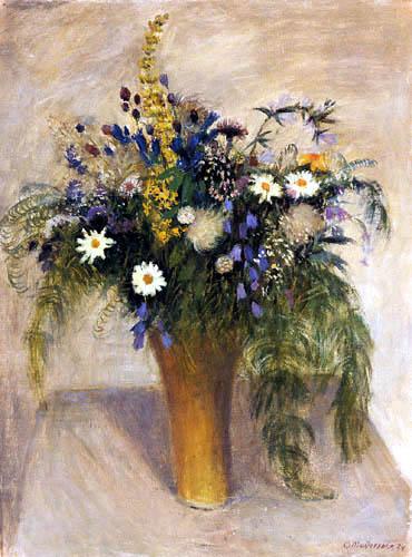 Otto Modersohn - Wild flowers in a vase