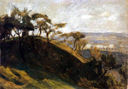 Otto Modersohn - Sonnige Bäume, Würzburg