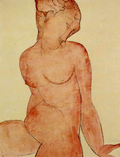 Amedeo Modigliani - Rosa Akt