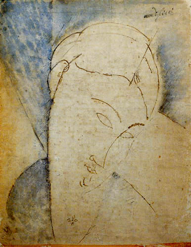 Amedeo Modigliani - Woman with topknot