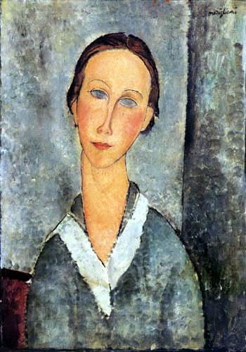 Amedeo Modigliani - Junge Frau mit Matrosenkragen