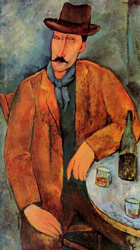 Amedeo Modigliani - Sitzender Mann