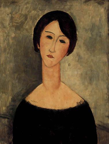 Amedeo Modigliani - Le joli brunette