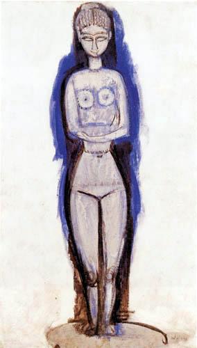 Amedeo Modigliani - Stehender Akt