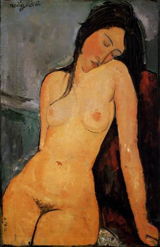 Amedeo Modigliani - Sitzender weiblicher Akt