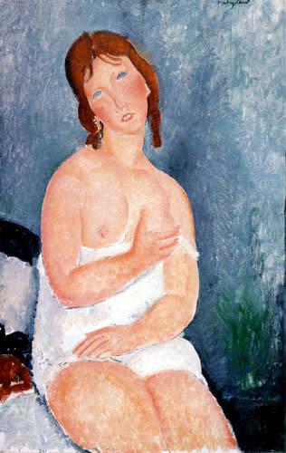 Amedeo Modigliani - Rothaarige junge Frau