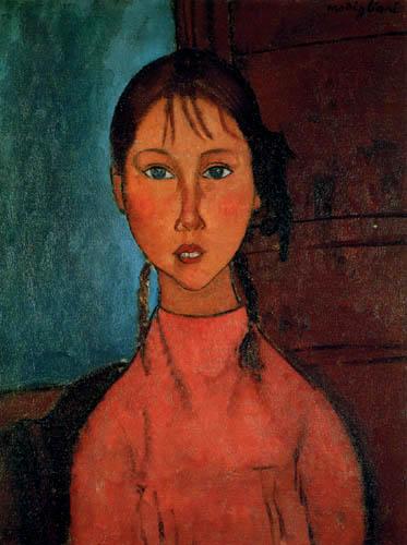 Amedeo Modigliani - Mädchen mit Zöpfen