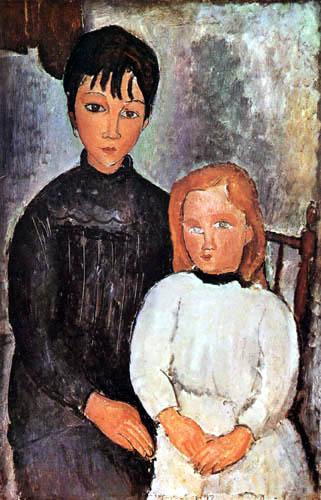Amedeo Modigliani - Zwei Kinder