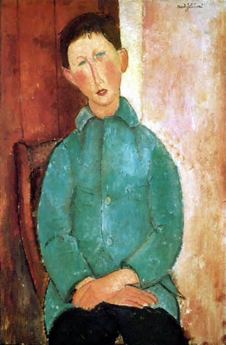 Amedeo Modigliani - Boy in a green jacket