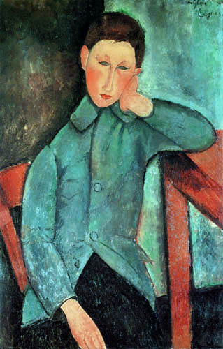 Amedeo Modigliani - Boy in blue jacket
