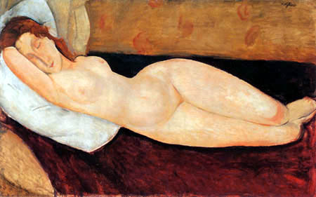 Amedeo Modigliani - A Reclining Nude