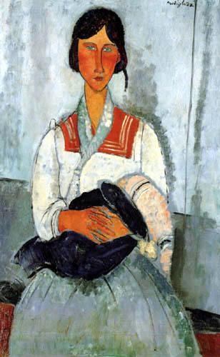Amedeo Modigliani - Sitzende Frau mit Kind