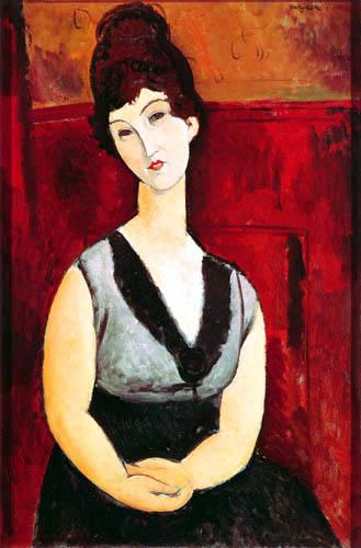 Amedeo Modigliani - Sitzende junge Frau