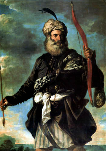 Pier Francesco Mola - An Oriental warrior with bow