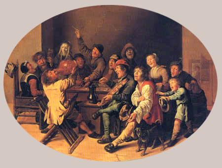 Jan Miense Molenaer - Celebrating Twelfh Night
