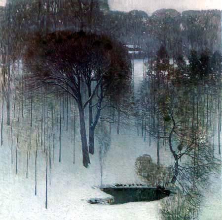 Carl Moll - A Park under Snow