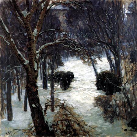 Carl Moll - Escena del invierno