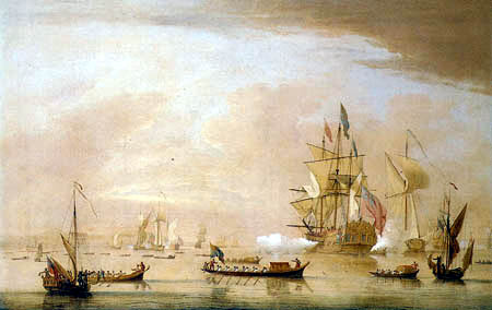 Peter Monamy - The Arrival of Georg II. of Margate