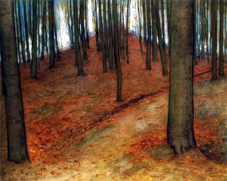 Piet (Pieter Cornelis) Mondrian (Mondriaan) - Bosque de haya