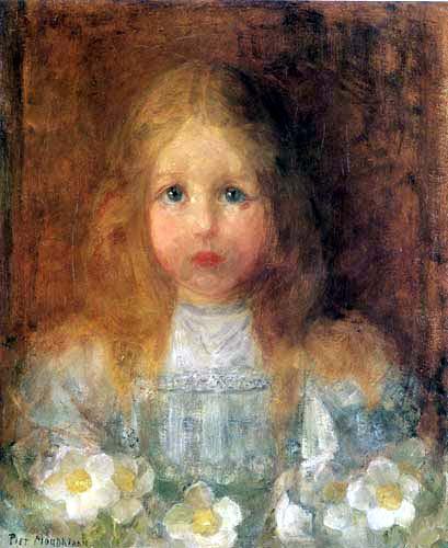 Piet (Pieter Cornelis) Mondrian (Mondriaan) - Girl portrait