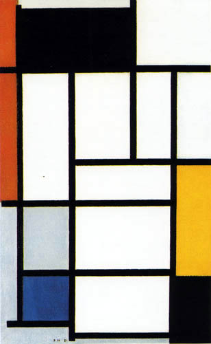 Piet Mondrian - Komposition in Rot, Gelb, Schwarz, Blau und Grau