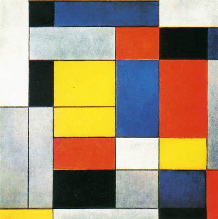 Piet (Pieter Cornelis) Mondrian (Mondriaan) - Number IV, Composition II