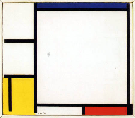 Piet (Pieter Cornelis) Mondrian (Mondriaan) - Composición en Rojo, Amarillo, Negro y Azul