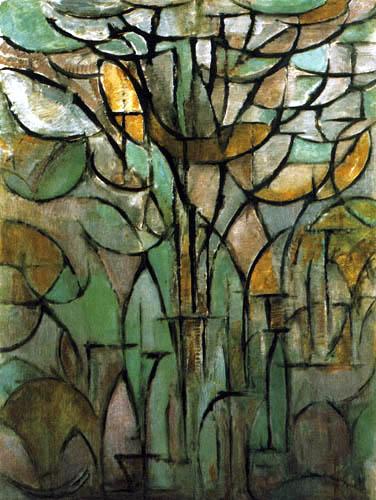 Piet Mondrian - Bäume