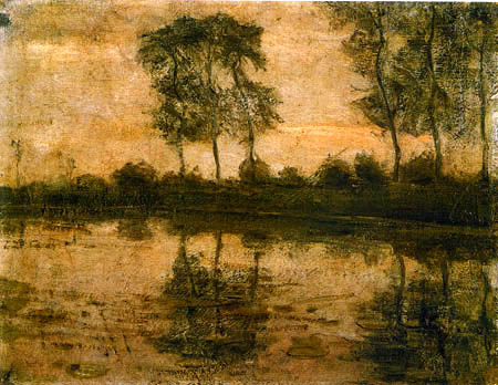 Piet Mondrian - Bäume am Gein