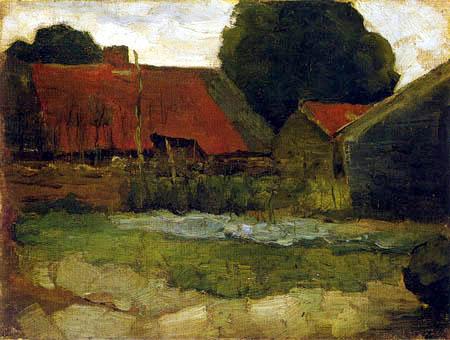 Piet Mondrian - Blick auf ein Bauernhaus