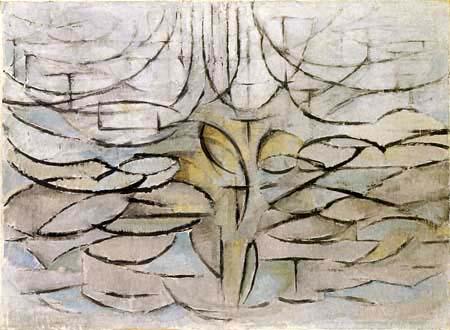 Piet Mondrian - Blühender Apfelbaum