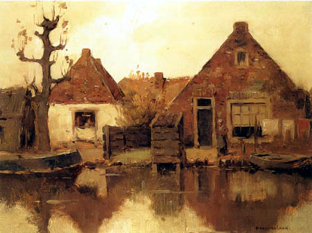 Piet (Pieter Cornelis) Mondrian (Mondriaan) - The lonely tree on the Gein