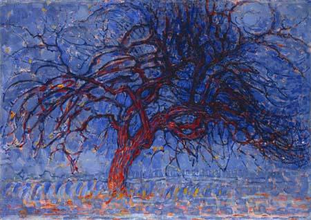 Piet (Pieter Cornelis) Mondrian (Mondriaan) - The Red Tree