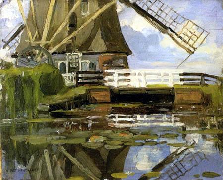 Piet Mondrian - Die Broekzijder Mühle am Gein