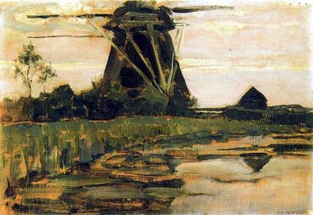 Piet Mondrian - Die französische Mühle am Gein