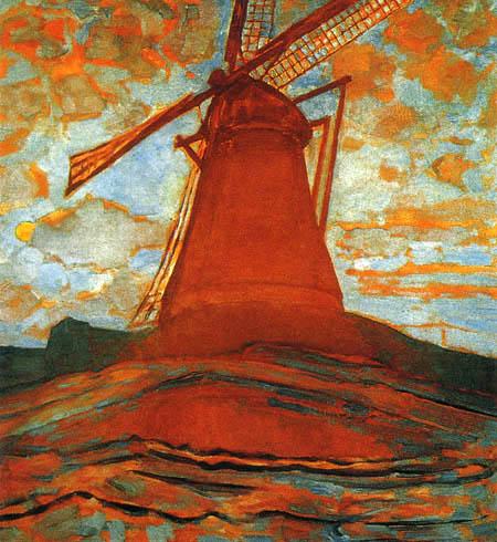 Piet Mondrian - Die rote Mühle