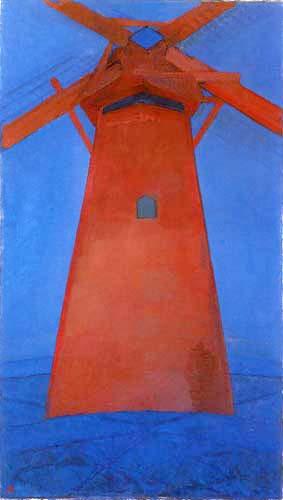 Piet (Pieter Cornelis) Mondrian (Mondriaan) - Le Moulin Rouge