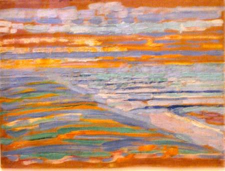 Piet Mondrian - Blick von den Dünen mit Strand und Piers, Domburg