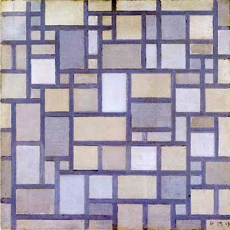 Piet Mondrian - Gitterkomposition 7