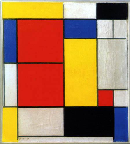 Piet Mondrian - Komposition II
