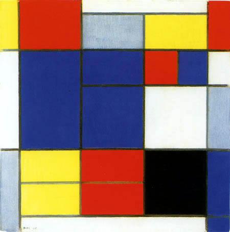 Piet (Pieter Cornelis) Mondrian (Mondriaan) - Composition C