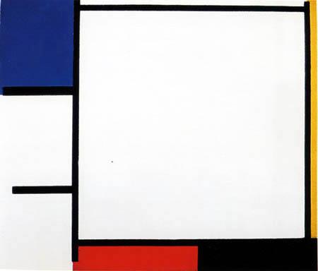 Piet Mondrian - Komposition in Blau, Gelb, Rot, Schwarz und Grau