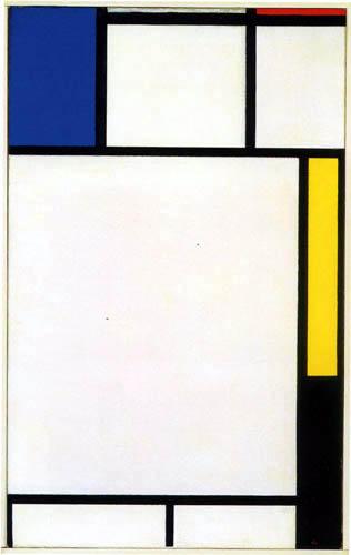 Piet (Pieter Cornelis) Mondrian (Mondriaan) - Composition en rouge, jaune, noir et bleu