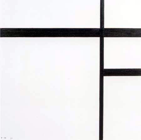 Piet Mondrian - Komposition II mit schwarzen Linien
