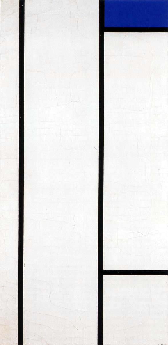 Piet Mondrian - Komposition I, Weiß und Blau