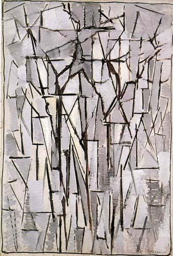 Piet Mondrian - Komposition Bäume II