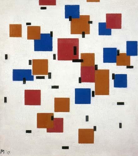 Piet (Pieter Cornelis) Mondrian (Mondriaan) - Composition en couleur A