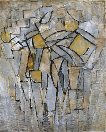 Piet Mondrian - Komposition in Grau-Blau