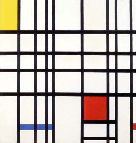 Piet (Pieter Cornelis) Mondrian (Mondriaan) - Composition in Red, Yellow and Blue