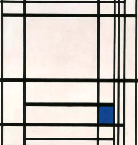 Piet Mondrian - Komposition mit Linien und Farbe III